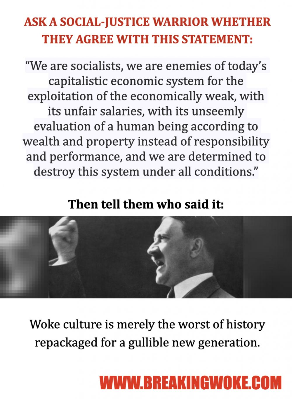 Are you woke enough for Adolf?