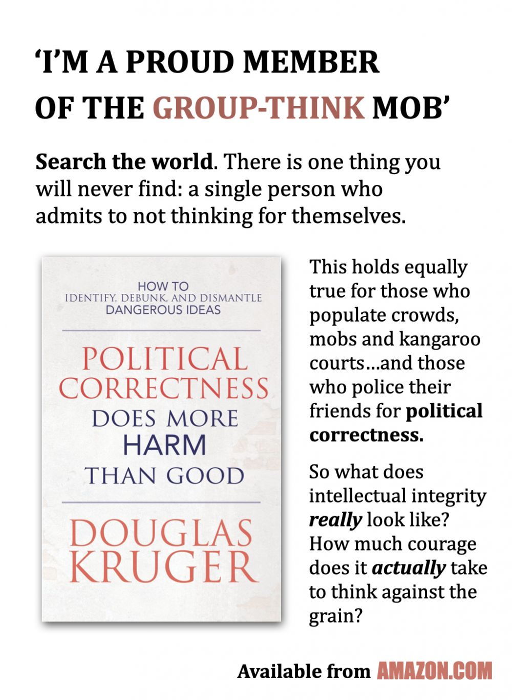 Political Correctness and Groupthink